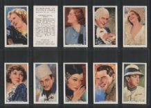Portraits of famous Stars 1935 set cigarette cards